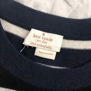 kate spade Sweaters - Kate Spade nautical black and navy sequin top